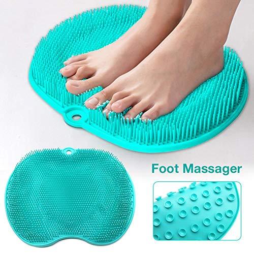 ZXCV Schwangere Frauen Ohne Bücken Dusche Fußmassagegerät Wäscher Reiniger Waschen Massage Werkzeuge Pad Matte Ältere Füße Reinigungsbürste,Grün