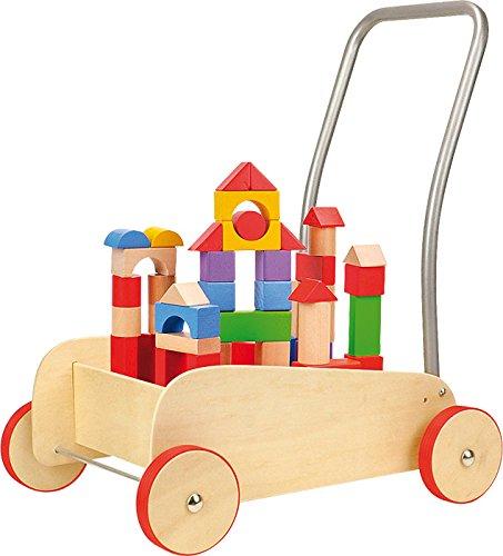 Small Foot - 4236 - Chariot de Marche - Cubes de Construction