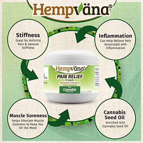 As Seen On TV Hempvana Pain Relief Cream with Cannabis Seed Extract