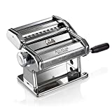 Marcato 8320 Atlas Pasta Machine, Made in Italy, Includes Pasta Cutter, Hand Crank, and Instructions (Renewed)