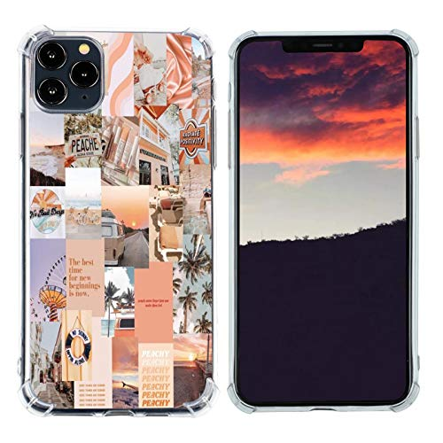 Case for iPhone 11 Pro Max, Vintage Vibe Collage Aesthetic Retro The Best Time Slim Case TPU Bumper Shockproof Protective Cover Case for Women Girls Support Wireless Charging