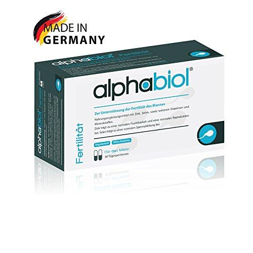 alphabiol Fertilität für den Mann - Für die männliche Fruchtbarkeit und Spermienproduktion