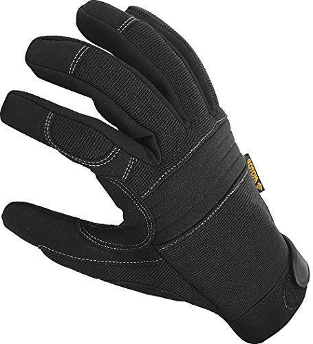 Durable Padded Work Gloves with Anti Vibrant Firm Grip, Touch Screen Tip; Comfortable Protective Workwear, EN388 Certified Safety, Washable for Working, Tactical, Mechanic, Duty and General Utility