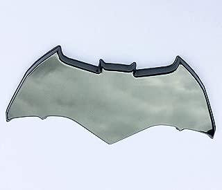 Fan Emblems Batman Logo 3D Car Emblem Black Chrome, Batman v Superman: Dawn of Justice BvS Automotive Sticker Decal Badge Flexes to Fully Adhere to Cars, Motorcycles, Laptops, Windows, Almost Anything