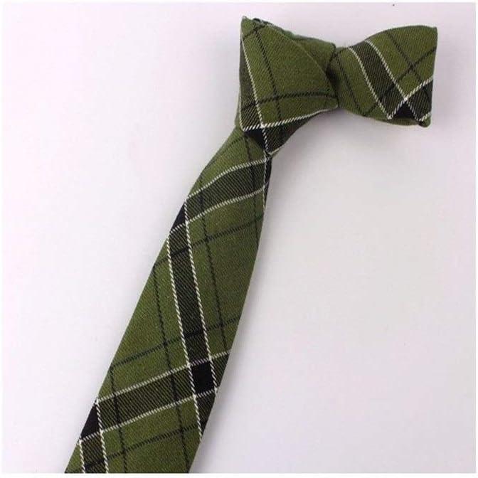 JINSUO Moonlight Star Tie-New Plaid Cotton Ties Skinny Neck Tie for Men Suits Mens Slim Necktie for Business Cravats 7cm Width Groom Neckties (Color : 2)