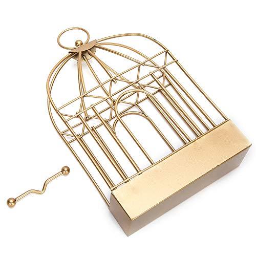 Soporte de incienso, hermoso soporte de madera de sándalo para colgar en hierro, estilo vintage duradero de oro fuerte y resistente para la oficina que sostiene el incienso en el hogar que
