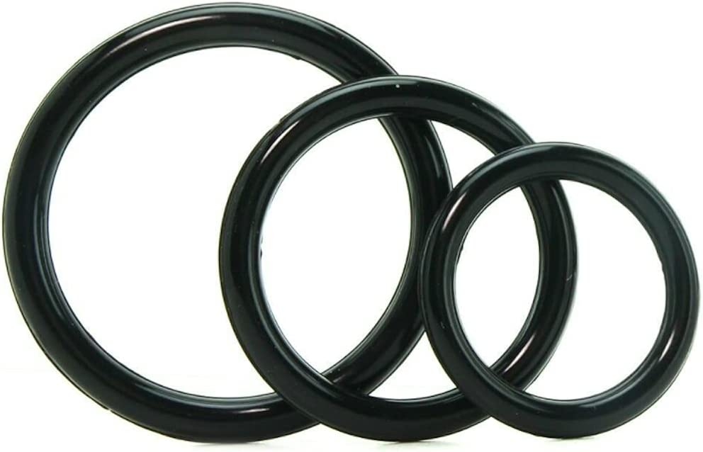 Silicone 3 Ring Stamina Set Max 89% Al sold out. OFF Black Dirty Fantasies2 Enhancer