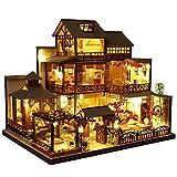 Blanket Modelo de Villa China: casa de muñecas en Miniatura con Muebles y luz LED, Kits de artesanía de Madera en 3D, para cumpleaños, día de los niños, día de San Valentín