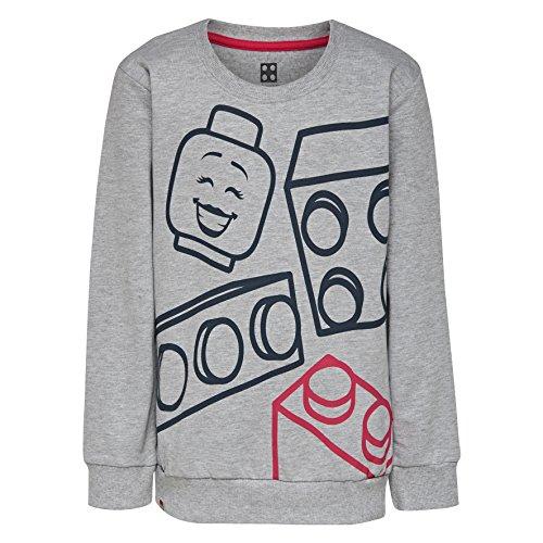 LEGO Wear LEGO Wear Mädchen LEGO Girl M-72674 - SWEATSHIRT Sweatshirt,, per pack Pink (Grey Melange 921), 110 (Herstellergröße: 110)