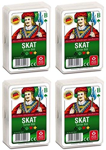 Ass Altenburger 22570027 Tunierbild Skat Spielekarten, Bunt, 59 x 91 mm