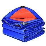 Lona CUIYXLona Paño Impermeable a Prueba de Lluvia 160 g / m2 Sombrilla Protector Solar Tela plástica Jardín al Aire Libre - Azul Naranja (Size : 4.8x9.8m)