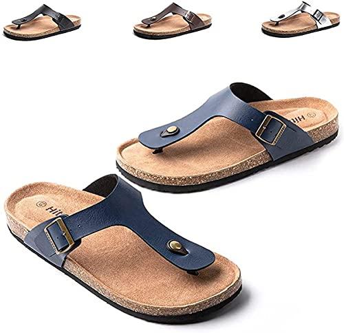Dakecy Chanclas para Hombre Tanga cómoda con Soporte para el Arco Zapatos Deportivos Playa Piscina Sandalias de Dedo Cómodas Chanclas Zapatillas Vacaciones al Aire Libre Verano Zapatos de Ducha
