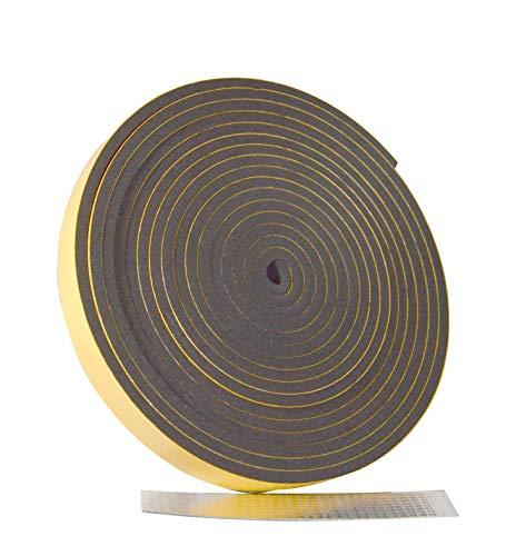 CONFORTEX Confort 48058 - Aislante térmico para tuberías, EPDM, Negro, 500 x 2 x 0,5 cm
