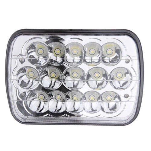 Universel 2 pcs 15 W LED phares de remplacement de 14 x 17,8 cm pour auto véhicule Pretty