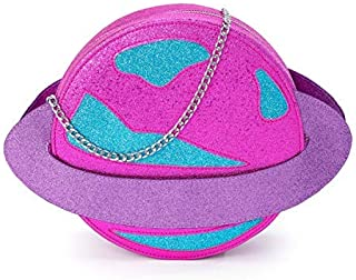 B.Rosy Handbags by Ruby Rose Turner - Spaced Out Novelty Girls Purse - Unique Planet Saturn Shaped Design Vegan Leather Cr...