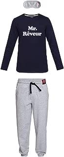 Nightoclock Blower Conjunto de Pijama para Hombre en algod/ón org/ánico e Antifaz