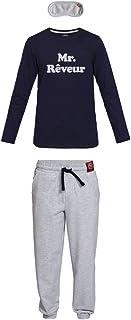 Bever Conjunto de Pijama para niño en algodón orgánico e Antifaz