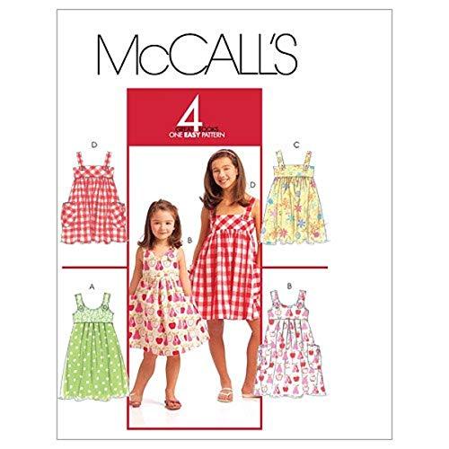 McCall's M5613 - Patrón de Costura para Confeccionar Vestidos de niña