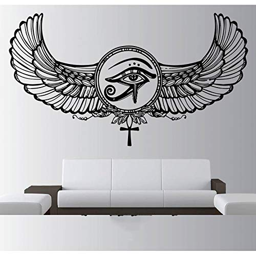 Ägyptische Vinyl Aufkleber ägyptische Gott Kunst Aufkleber Augenfeder Pharao ägyptische Pyramide Wandbild Poster Dekoration Aufkleber andere Farbe 75x42cm