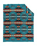 Pendleton Woolen Mills Chief Joseph Wool Blanket, Turquoise, Twin