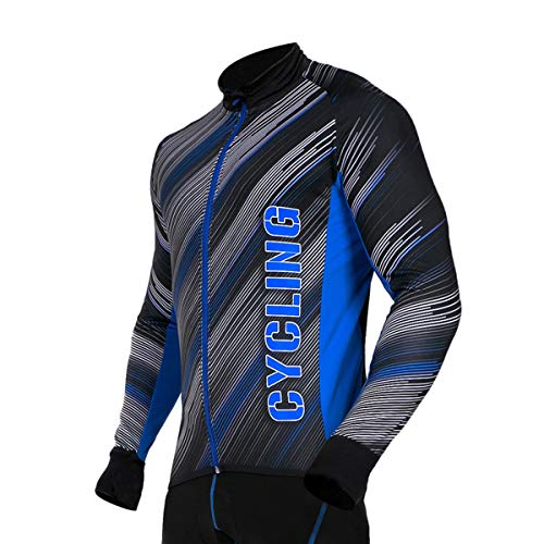 Stanteks fietsshirt met lange mouwen fietsshirt fietsshirt heren dames unisex fiets wielersport thermo shirt reflectoren sneldrogend SR0038