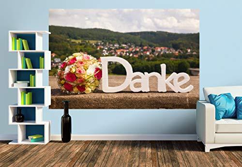 Premium Foto-Tapete Danksagung (versch. Größen) (Size M   279 x 186 cm) Design-Tapete, Wand-Tapete, Wand-Dekoration, Photo-Tapete, Markenqualität von ERFURT