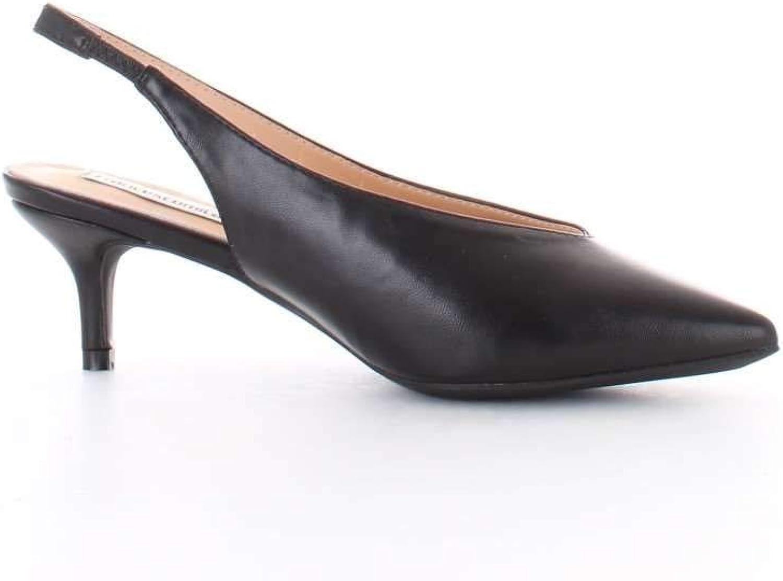 FRANCESCO MILANO Women's S064PBLACK Black Faux Leather Heels
