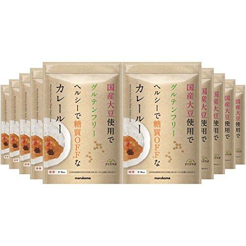 マルコメ ダイズラボ 大豆粉のカレールー グルテンフリー 【中辛】 120g×10個