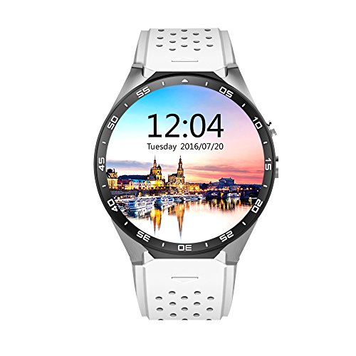 AWOW KW88 3G WiFi Smart Watch Cellulare All-in-One Android 5.1 Supporta Nano Sim Card Con Fotocamera GPS Cardio Frequenzi Metro Google Map Google Play