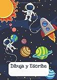 Dibuja y escribe: Pauta Montessori 5mm - Libreta para dibujar y escribir - Cuaderno caligrafía niños (Caligrafía Pauta Montessori)