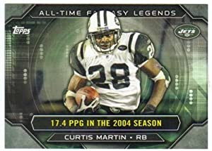 2015 Topps All Time Fantasy Legends #ATFL-CM Curtis Martin NY Jets NFL Football Card NM-MT