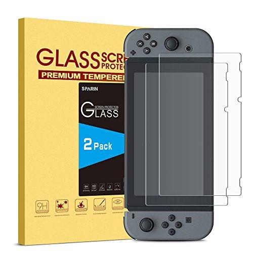 Nintendo Switch 2017 Pellicola Protettiva [2 Pack], SPARTN Vetro Temperato per Nintendo Switch 2017 [Ultra Resistente] [ Durezza 9H ] [Alta trasparente] [Nessuna bolla] [Anti-shock] [Anti-impronte] [Antigraffi]