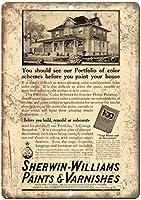 シャーウィンウィリアムズペイントアンドワニス 金属板ブリキ看板警告サイン注意サイン表示パネル情報サイン金属安全サイン