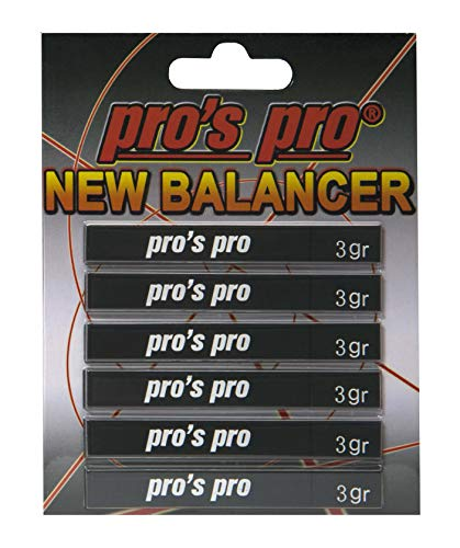 Pro's Pro New Balancer Spro - Tiras de cinta de plomo para raquetas, palos de golf(18gr), negro