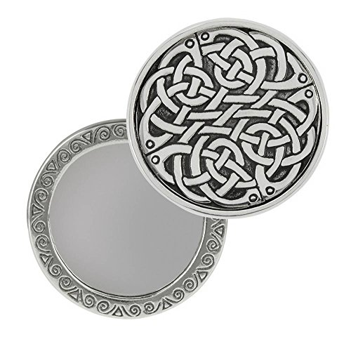 Orton West Womens Celtic Knot Compact Mirror - Silver