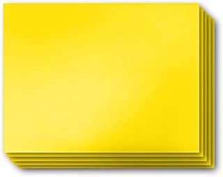 "VIBE INK 4MM Yellow Blank Signs 24"" x 18"" Sheets High Grade Corrugated Plastic Short-Flute Indoor/Outdoor - Bulk Bundles (5)"