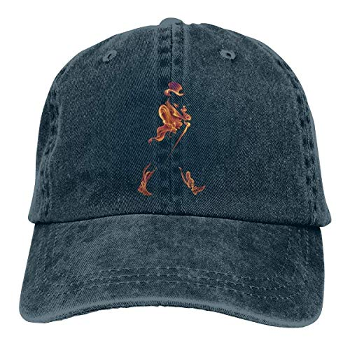 Johnny Walker Cool Fire Fashion Unisex Baseball Cap Funny Classic Cowboy Hat Navy
