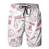 Love girl Shorts de Playa de Secado rápido para Hombres, Herramientas de cosméticos, Forro de Malla, Tablas de Surf, bañador con Bolsillos, Talla XXL