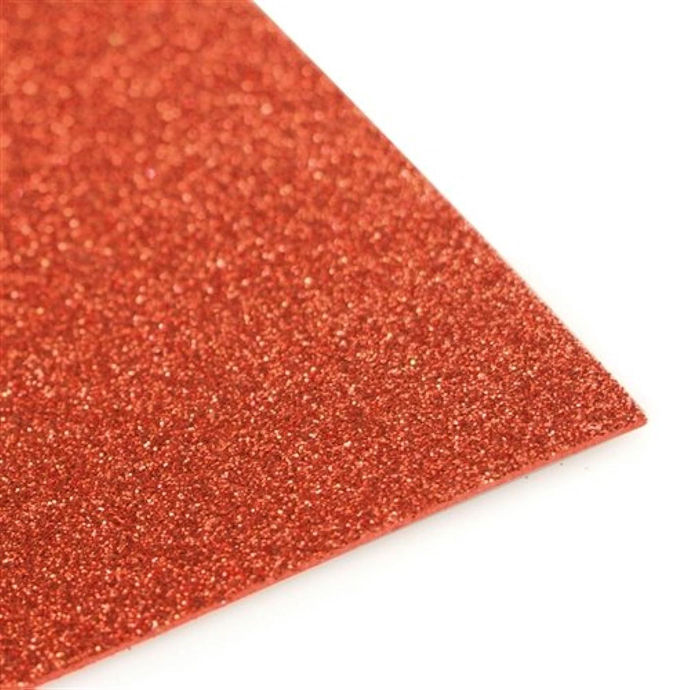 Homeford Firefly Imports Glitter EVA Foam Sheet, 13 x 18-Inch, 10-Pack, Red