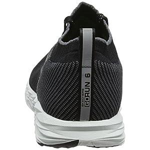 Skechers Men's Go Run 6 Black/White Running Shoe 11.5 Men US