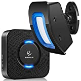 Wireless Motion Sensor Alarm, ELEPOWSTAR Motion Sensor Detect Alert, Motion Detection Doorbell with 58 Chimes/5 Level Volumes/LED Flash (1 Receiver+1 Motion Sensor)