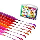 HEELPPO Rotuladores para Mandalas Pinturas Acuarelables Rotuladores Acuarelables Consejos De Fieltro para Niños Los Niños Colorantes Plumas Bolígrafos De Color para Niños 24pcs