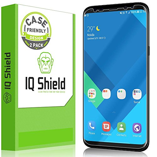 IQ Shield Screen Protector Compatible with Samsung Galaxy S8 (2-Pack)(Case Friendly)(Not Glass)...