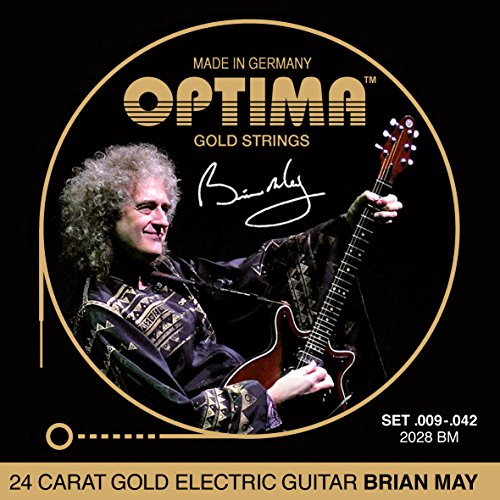 "Optima 2028 BM GOLD Strings ""Brian May"" Set"