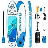 Bessport Tabla Paddle Surf Hinchable, Stand-up Paddle Surf de Sup, 310/335 cm, Carga hasta 125/150 kg, para Principiantes, jóvenes y Adultos
