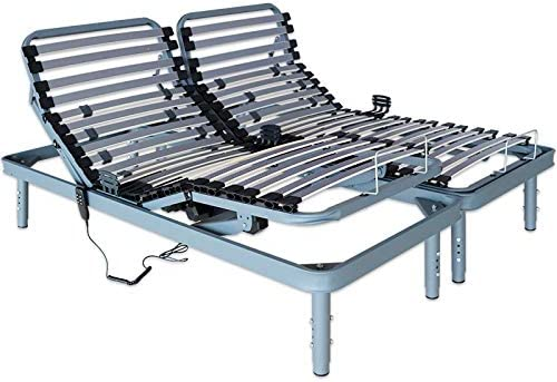 Ventadecolchones - Cama Articulada Super Reforzada Adaptator con Motor eléctrico y Patas Regulables en Altura y Mando inalámbrico Medida 150 x 200 cm ...