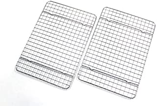Checkered Chef Cooling Racks For Baking - Quarter Size - Stainless Steel Cooling Rack/Baking Rack Set of 2 - Oven Safe Wir...