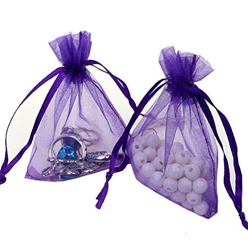 Viatabuna – 100 bolsas de organza de 10 x 15 cm, bolsas de regalo de organza, bolsas con cordón para joyería, fiestas, bodas, fiesta, regalos, bolsas de dulces