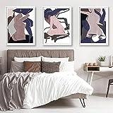 Hembra abstracta púrpura arte de la pared impresiones arte erótico mujer obra de arte desnudo moderno cartel rosado arte cuerpo lienzo pintura decoración para el hogar sin marco