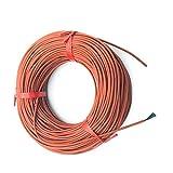 Pantalla de calefacción por Mascotas 10M 12K 33OHM / M Calefacción infrarroja Calefacción de Piso Ther Sistema de Cable de 3 mm de Gel de sílice Alambre de Fibra de Carbono Utilizada en Voltaje 150W